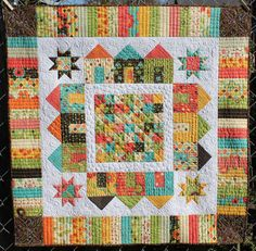 Full House Variation by Leah of Quilted Delights