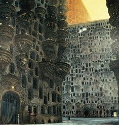 Dmochowski - This painting reminds me of the Dark City, Zdzislaw Beksinski