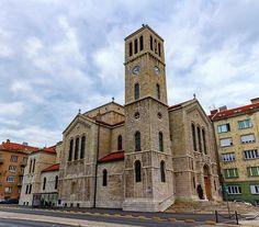 Saint Joseph's Church in Sarajevo by day. Bosnia and Herzegovina Sarajevo Bosnia, Famous Places, St Joseph, Bosnia And Herzegovina, Notre Dame, Travel Photos, Fine Art America, Saints, Travel Pictures
