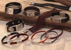 Check out our great collection of Trades Of The East Jewelry! All of the bracelets are real leather.