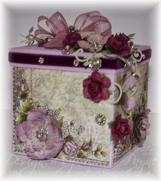 Nikki's Crafting Creations: Lot's of News to Share! Scrapbook Paper Crafts, Scrapbooking, Flea Market Crafts, Cute Crafts, Diy Crafts, Exploding Box Card, Prayer Box, Shaped Cards, Altered Boxes