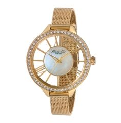 Gold Watch with Transparent Dial -  Kenneth Cole
