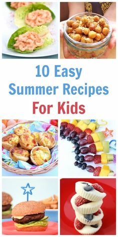 10 favourite recipes for cooking with kids this summer - a great collection of easy recipes for kids with free printable child friendly recipe sheets (frozen summer drinks for kids) Easy Summer Meals, Easy Meals For Kids, Toddler Meals, Summer Recipes, Kids Meals, Summer Food, Picnic Foods For Kids, Toddler Recipes, Summer Things