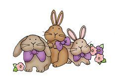 Free Dearie Dolls Digi Stamps: Bunnies