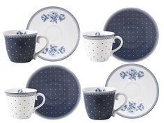 Inspired by the heritage art of Amsterdam, this Espresso Cup and Saucer set from the Vintage Indigo collection is a pretty set from British designer Katie Alice. Capturing the elegance of delftware with a modern twist, stunning dark blue roses and delicate polka dots contrast against super white porcelain, with a sweet lace trim and interior floral detail. Inspired by the delft tiles of Rembrandt's house, Vintage Indigo takes the Katie Alice brand in a fresh new direction, while keeping its…