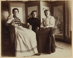 [Three friends seated in the veranda room, Dom Smith, Vladivostok, Russia: Eleanor Pray, Sarah Smith, Eleonora Hansen] Contributor Names Pray, Frederick S.,