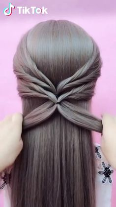 Hairstyles For Medium Length Hair Easy, Braids For Long Hair, Hair Up Styles, Medium Hair Styles, Long Hair Video, Hair Videos, Hair Hacks, Braided Hairstyles, Underlights Hair