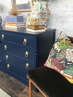 navy painted dresser