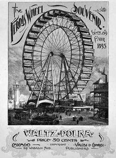 1893 Chicago Worlds Fair: Ferris Wheel Souvenir