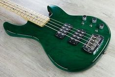 G&L USA Electric Bass, Maple Fingerboard, Hard Case - Clear Forest Green. Bass Guitars For Sale, Garageband, Equipment For Sale, Rock, Music, Sexy, Green, Basement Band, Musica