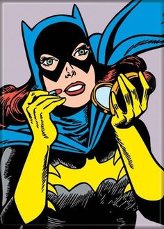 The by Batgirl Compact Magnet shows Barbara Gordon checking up on up her make-up before she beats somebody up! Catwoman Cosplay, Barbara Gordon, Batwoman, Nightwing, Comic Books Art, Comic Art, Batgirl Makeup, The Wild Robot, Batman And Batgirl