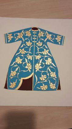 Kaftan Tezhip Tasarım : Nazlı Şimşek Uygulama : Serap Yalduz Adult Coloring, Coloring Pages, Hand Painted Dress, Illumination Art, Turkish Art, Sufi, Istanbul, Pattern Design, Miniatures