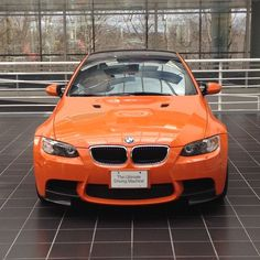 ///M   BMW M3 Lime Rock Edition in the lobby of the US headquarters.