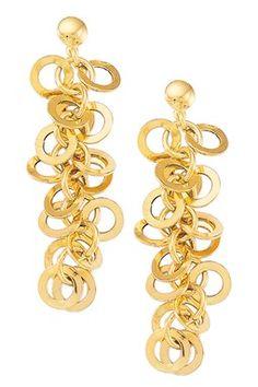 Royal Chain Group 14K Gold Multi Disc Dangle Earrings
