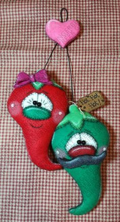 Burning Love Pattern - Primitive Doll Pattern - Valentine - Jalapeno - Love - Heart Burn - Whimsical - Fiber Art - English Only Primitive Doll Patterns, Burning Love, Bazaar Ideas, Cover Pages, One And Only, Felt Crafts, Pattern Paper, Love Heart, Wool Felt