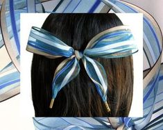 Hair Ribbons Blue & Brown Striped Organza Hair by HairYeHairYe Blue Hair Bows, Hair Ribbons, Ribbon Hair, Natural Shapes, Bad Hair Day, Hair Ties, Blue Brown, Shades Of Blue, Girl Hairstyles