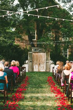 Merrimon Wynne House - Wedding Ceremony Decor - Autumn Harrison Photography - NC Wedding Planner Orangerie Events