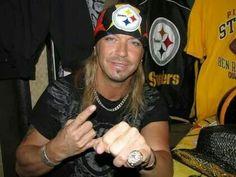 Brett Michaels is a huge Steelers fan!