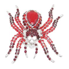 EVER FAITH® Halloween Gift Spider Brooch Red Austrian Crystals N01985-4 * Check out this great article. #Broochesand Pins