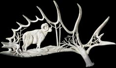 Canadian artist Shane Wilson transforms massive moose antlers into magnificent works of sculpture inspired by his natural surroundings in northern Ontario.