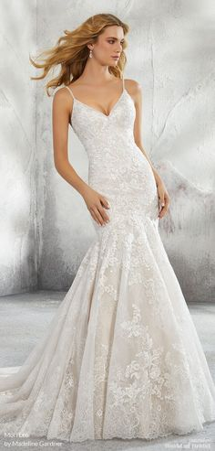 Mori Lee By Madeline Gardner Fall 2018 Bridal Collection Fit And Flare Wedding Dressclic