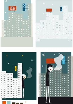 love this style of illustration. blanca gomez.