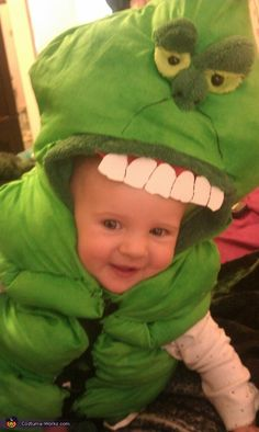 Slimer Baby costume This homemade costume for babies entered our 2012 Halloween Costume Contest.