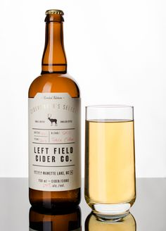 Label design for 'Left Field Cider Company'  by Also Known As