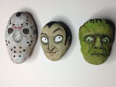 Outsider Art Original Painting Stone Kaveman Rock Frankenstein Folk Halloween | eBay