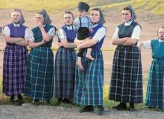 Hutterite girls by Larry Bolch