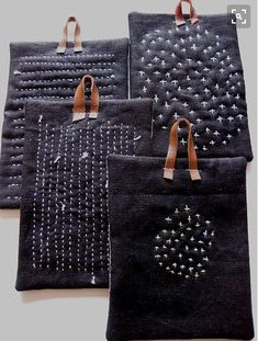 Sashiko denim pot holders