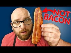 Making The Ultimate VEGAN BACON - Literally the KING of PLANT BASED BACON • Sauce Stache Seitan Recipes, Bacon Recipes, Veg Recipes, Vegan Gluten Free, Vegan Vegetarian, Vegetarian Recipes, Vegetarian Breakfast, Vegan Foods, Vegan Meals