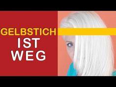 Von Braun auf Blond | kühles Platin ohne gelbstich | Gelbstich entfernen | selber färben | Anleitung