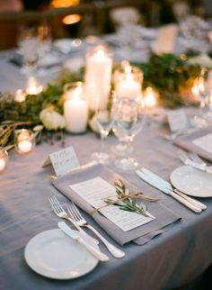 Like Candles With Bud Vases For The Tables Dinner Will Be Served Family Style And