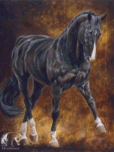 Reproductions giclées sur toile - giclée prints on canvas — Elise Genest Horse Drawings, Animal Drawings, Art Drawings, Painted Horses, Arte Equina, Oil Pastel Colours, L'art Du Portrait, Horse Artwork, Equine Art