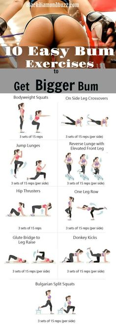 Butt Workouts - Best Exercises to get a bigger buttocks and lift your Buttocks at home for women