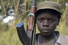 One of the child soldiers forcibly recruited into the LRA. They are the main victims in Invisible Children's narrative, waiting to be rescued (The Children of the Nile)