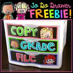 Classroom Organization - Drawer Labels {freebie} — Tacky the Teacher Classroom Labels, 4th Grade Classroom, Primary Classroom, Classroom Design, Elementary Teacher, Future Classroom, Classroom Themes, Classroom Libraries, Classroom Newsletter