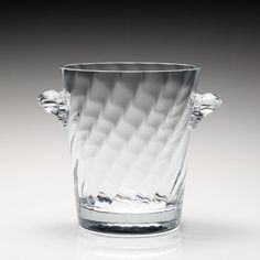Oh I love ice. This would look great full of it!! William Yeoward Crystal American Bar Dakota Ice Bucket at Amara