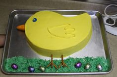 easter chick cakes | made this cake for Easter. It is a very simple design but very cute!