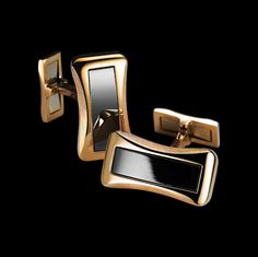 Rose gold Onyx Cufflinks - Piaget Luxury Jewelry