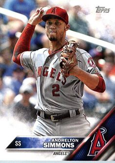 2016 Topps Team Edition #A-4 Andrelton Simmons Los Angeles Angels Baseball Card