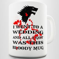 Dire wolf Game of Thrones Inspired Coffee Gift Mug:Amazon:Kitchen & Dining