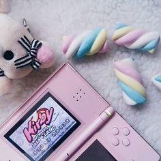 """...In Dream Land, dreams always flowed from the wonderful Fountain of Dreams...""☁🌸 . . . . . . . . . #ndslite #nds #nintendo #nintendodslite #nintendods #kirby #dreamland #dreams #marshmallow #chillpills #rilakkuma #fini #sugar #pornfood #kawaii #cute #pink #pastelcolors #animelovers #mangalovers #otaku #retrogames"