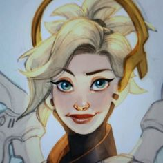 Decided to get on the coloring sooner than planned! #art #drawing #digitalart #overwatch #mercy by inimeitiel