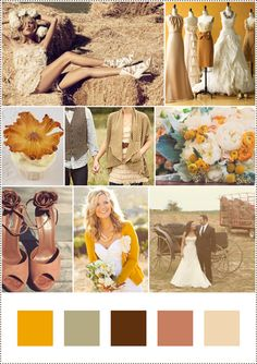 Country Chic These colors are perfect, accept make the green a little greener and one a alittle bit more peach