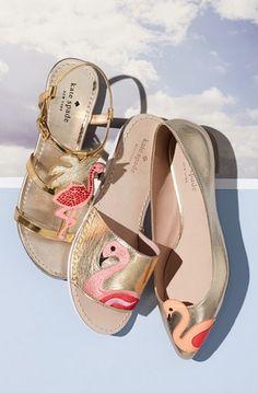 Main Image - kate spade new york 'tammy' metallic leather ankle strap sandal (Women) Flamingo Shoes, Pink Flamingos, Flamingo Art, Cute Shoes, Me Too Shoes, Kate Spade, Dior, Pink Bird, Hermes