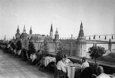 Ресторан на крыше гостиницы «Москва», 1930-е