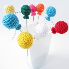 Hæklet ballon - jeg er en lille blå ballon ✔