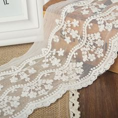 Quality 11cm small sapling gauze embroidery lace DIY handmade accessories